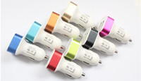 Wholesale Car Charger Aluminum Cycle V A USB Dual port Auto Power Adaptor for Smart phone