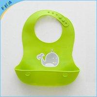 Bibs & Burp Cloths bib plastic pockets - New pattern kids feeding bib with pocket silica gel infant washable waterproof plastic baby silicone bib