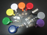 Wholesale Good price Retractable Ski Pass ID Card Badge Holder Key Chain Ring Badge reel Reels Keyring With Clip