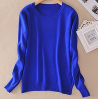 Wholesale Sweater female women s knitted cashmere sweater slim o neck sweater short design plus size pullover basic shirt