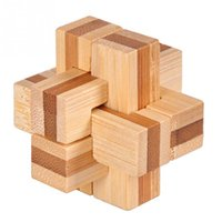 bamboo games - New Excellent Design IQ Brain Teaser D Wooden Interlocking Burr Puzzles Game Toy For Adults Kids