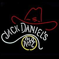 beer cowboy hat - Fashion New Handcraft Jack Daniel s Old No Cowboys Hat Real Glass Tubes Beer Bar Pub Display neon sign x15 Best Offer