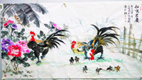 One Panel Ink Traditional Mordern Chinese traditional ink painting famous Painting master hand Authentic corner of the village hall  living room bed room decoration