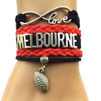 afl football league - Drop Shipping Infinity Love Melbourne Football Bracelet Personalized AFL Australian League Team City College Bracelet