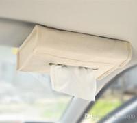 Wholesale Car sun visor tissue paper box tissue holder organizer for car Personalized Linen Tissue Box