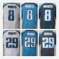 baby rugby jerseys - Best quality jersey Men s Stitched Marcus Mariota DeMarco Murray elite jerseys White baby blue Dark blue Size