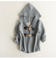 Wholesale Children Is Fashion Sweater Autumn And Winter Children Is Clothing Baby Long Sweater Coat Boy