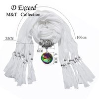 amazon pendants - 2016 Speed Sell Through Dunhuang Amazon First Glass Pendant Multicolor Polyester Tassel Accessories Scarf Winter Autumn Spring