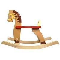 Wholesale Children s Trojan rocking horse solid wood shake Ma Baobao toy car rocking chair baby birthday gift