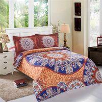 Wholesale 4 Set Bohemia modern bedding Luxury Quilt Set flower D printing Bohemia bedding cotton bed linen bedding