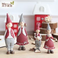Wholesale NVWANG123 House piece Red Resin for pet rabbit figurines gift for other kids birthday gift Christmas Gift