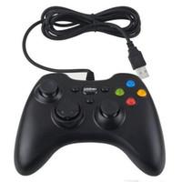 Blanco xbox palanca de mando Baratos-Xbox 360 Playstation Controlador Gamepad USB con cable Joypad XBOX 360 Pc Uso Joystick Game Controllers para Ordenador Portátil PC negro blanco colores