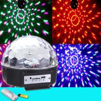 Vente en gros étoile de chance RGB MP3 Magic Crystal boule de musique LED scène lumière 18 w Accueil Party disco DJ Party scène villes éclairage livraison gratuite