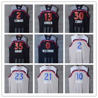 Wholesale New All Star Kevin Durant Stephen Curry James Harden Westbrook LeBron James Irving DeRozan Butler Leonard Retro Color Stitched Jersey