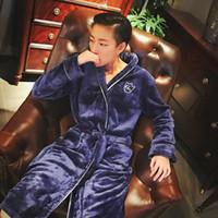 Wholesale New Winter women s high quality coral fleece bathrobe contracted robe women sleepwear night robe plus size free