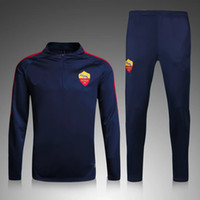 Wholesale 16 Rome Blue sweater tracksuit Sportswear training Suits men s Clothes Trackring suits Male Hoodies mix order