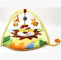 baby activity lion - 2017 Cartoon lion Baby Cotton Activity Play Mat infant plush Rugs Educational Carpet Babies Game Musical Rattle Toys