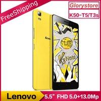 Originale Lenovo K3 Note K50-T5 K50-T3s Android 5.1 Téléphone mobile MTK6752 Octa Core double carte SIM 4G LTE 5.5inch FHD 1920x1080P 2G RAM 13MP