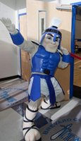 Wholesale OISK Custom made Blue Titan Spartan trojan knight Mascot Costumes OUtfits Halloween Performance Birthday Fancy Party Dress Costume