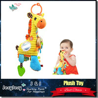 baby playtime - Sozzy Baby Playtime Pal Lovely Cartoon Giraffe Pattern Soft Toys Musical Rattle Ring Bell Stroller Hanging Cot Bed Crib Mobile Educational