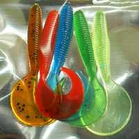 artificial lake - 5 bag Mixed Colors Artificial Curly Tail Maggots Grub Worm Fishing Lures Soft Grubs cm g for Sea River Lake Fishing