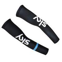 SKY Pro Equipo Negro Azul Ciclismo brazos manga Spandex Coolmax Lycra UV Protección Tamaño: S-XXL maillot ciclismo D2012