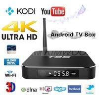 Wholesale 1pcs T95 Android TV Box Amlogic S905 KODI XBMC installed Quad Core Smart TV Box WIFI K OTT TV