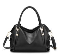 sac à main noir pour femme achat en gros de-Fashion Design Handbags Womens Fashion Gorgeous Black Shoulder Bag Totes Femmes Sacs à main de haute qualité Sacs