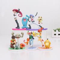 ash action figure - 5styles Poke Ash Ketchum Pikachu Charmander Misty Kasumi Togepi Brock Takeshi Vulpix Team Rocket PVC Action Figure Toy Model Doll