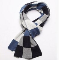 Wholesale The new scarf double sided plaid scarf Korean cashmere scarf thickening warm scarves