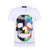 Wholesale 2017 new spring hot fashion designer high quality pp print men cotton casual short t shirts size m xxxl