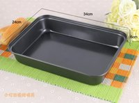 Wholesale PC Home Bakeware Inches Cm Cm Rectangular Non stick Baking Pans Chiffon Steak Chicken Wings of Bread Baking Dishes