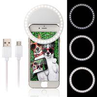 Precio de Anillo de luz led de la cámara-Cargador recargable del USB de la luz del anillo del LED de Selfie del anillo de la luz LED del anillo de Selfie con la batería para el iphone Samsung