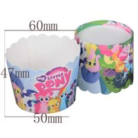 Wholesale bag my Little Pony Children Kids Birthday Party Baking paper cake cup