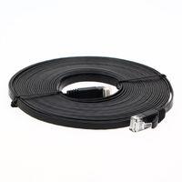 Wholesale Ethernet Cable Cat6 CAT6 FLAT UTP Ethernet Patch Network Cable Wire with RJ45 Male Connectors LAN Cord M M M M M Black
