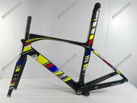 Wholesale 2017 Multi color Road Bicycle Frame Aerolight full carbon fiber bike frame cm Frame Seatpost Fork Clamp Headset Stem