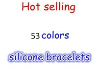 Wholesale 200pcs Mix Colors with size S M L XL Silicone wristband Silicone bead Bracelet with tag
