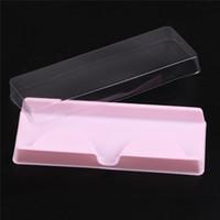 Wholesale Packing box for eyelash blank eyelashes plastic packaging transparent lid pink tray wholesales sets