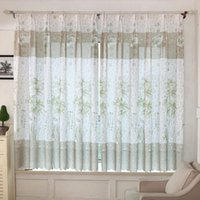 Wholesale New for Bamboo Print Sheer Window Curtains For Living Room Bedroom really good
