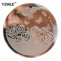 Wholesale YZWLE Sheet Stamping Nail Art Image Plate cm Stainless Steel Template Polish Manicure Stencil Tools YZWLE