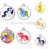 Wholesale New Cartoon My Little Pony Circular Charm Pendants DIY Jewelry Makin T