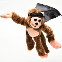 Wholesale Set Screaming Sound Funny Plush Flying Monkey Toy Soft Cute Children Boy Girl Child Kids Plush Slingshot Toy