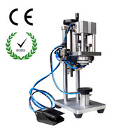 automatic capper - 2016 newest Perfume vial crimper pneumatic perfume crimping machine semi automatic matel cap capper sizes heads for free