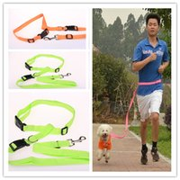 Wholesale Dog supplies Nylon Running Dog Pet products Hauling cable Leads Collars Traction belt dog traction rope belt