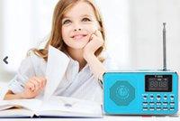 Wholesale Universal Home Stereo Speaker Mini Portable Radio TF Card Speaker FM Radio Digital Speaker with LED Screen Support TF Card Read
