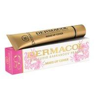 al por mayor make up-Dermacol Base Maquillaje Cover Primer Concealer Profesional Face Foundation Contour Paleta original 50 aniversario edición limitada Navidad