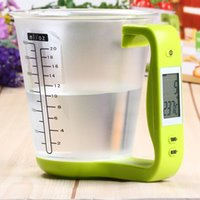 Wholesale Digital Cup Scale Electronic Measuring Household Jug Scales with LCD Display Temp Measurement Measuring cups Cooking Tools