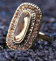 Wholesale Exaggerated fashion crystal small act the role ofing is tasted fresh joker female ring restoring ancient ways