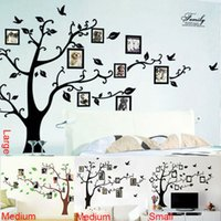 Wholesale photo tree frame family forever memory tree wall decal decorative adesivo de parede removable pvc wall sticker diy zooyoo94AB