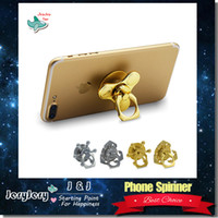 Multicolor aluminium mobile - Fidget Spinner Hot Fashion Mobile Phone Accessor Phone Holder Spinner Handspinner Aluminium Alloy Metal With Retail Box